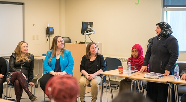 In conversation: Government Representatives meet with Practical ELL students