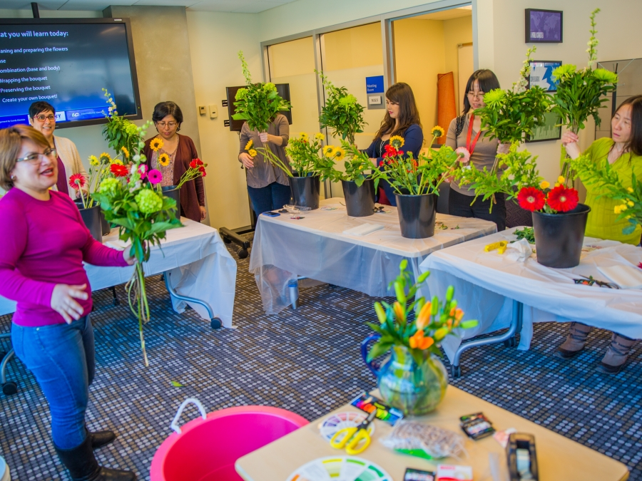 Teach Your Talent:  Flower Arranging