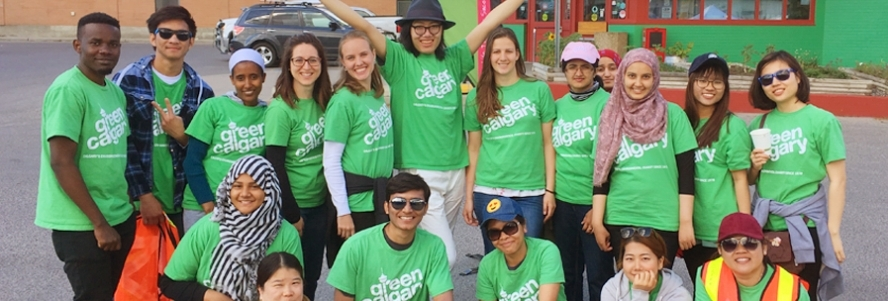 The ICan Crew goes green